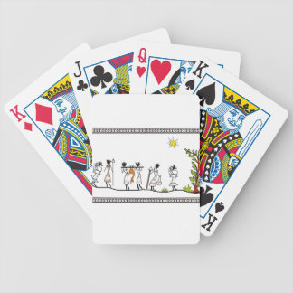 hunting_peoples_saura_Indian_Tribal_Painting Bicycle Playing Cards