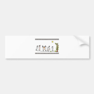 hunting_peoples_saura_Indian_Tribal_Painting Bumper Sticker
