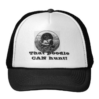 Hunting Poodle Cap Hat