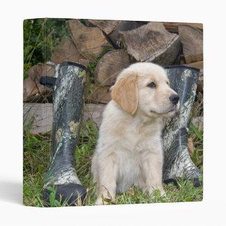 Hunting Pup Vinyl Binder