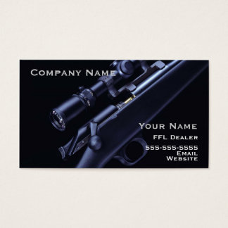 Hunting rifle business card 4