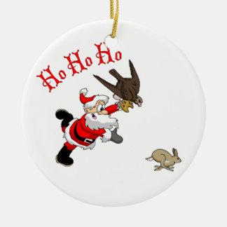 Hunting Santa Christmas Ornaments