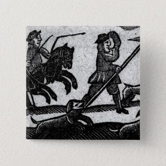 Hunting Scene, 'A Book of Roxburghe Ballads' Button