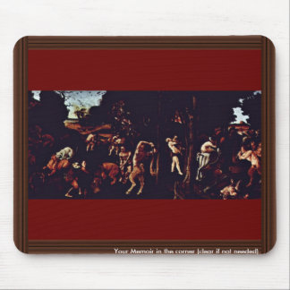 Hunting Scene By Piero Di Cosimo (Best Quality) Mouse Pad