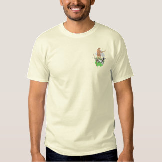 Hunting Scene Embroidered T-Shirt