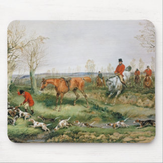 Hunting Scene Mouse Pad