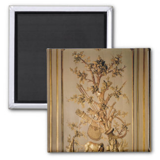Hunting scene, wood panelling from dining room magnet