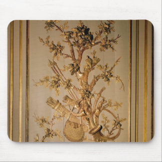 Hunting scene, wood panelling from dining room mouse pad