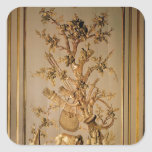 Hunting scene, wood panelling from dining room square sticker