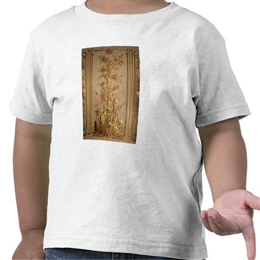 Hunting scene, wood panelling  from dining shirt