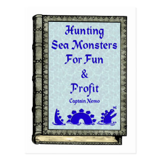 Hunting Sea Monsters Postcard