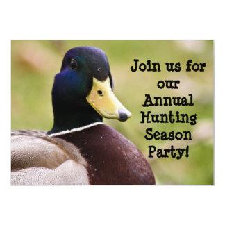Hunting Season Duck Invitation