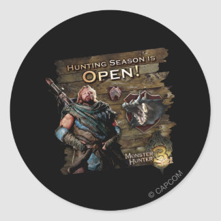 Hunting season is open! classic round sticker