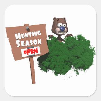 Hunting Season Square Sticker