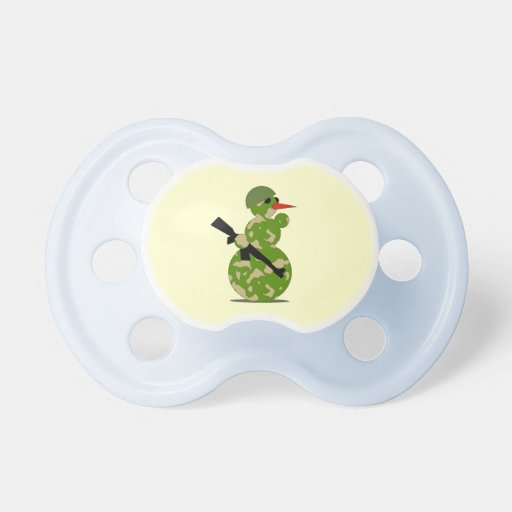 Hunting Snowman Pacifier