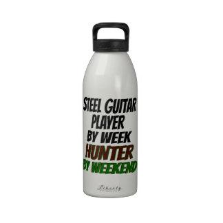 Hunting Steel Guitar Player Reusable Water Bottles