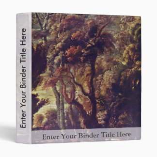 Hunting The Atalante Detail By Rubens Peter Paul 3 Ring Binder