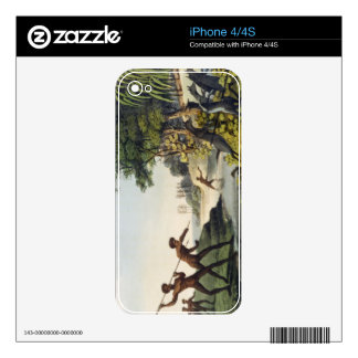 Hunting the Kangaroo, aborigines in New South Wale Decal For The iPhone 4S