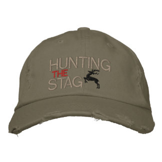 HUNTING THE STAG EMBROIDERED BASEBALL HAT