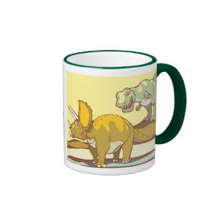 Hunting the Triceratops Ringer Coffee Mug