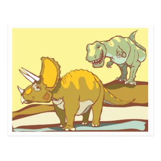 Hunting the Triceratops Postcard
