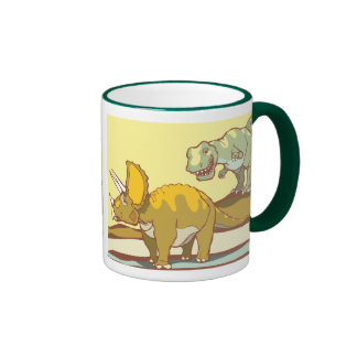 Hunting the Triceratops Ringer Mug