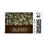 Hunting Theme Speckled Camo Wedding RSVP Stamp