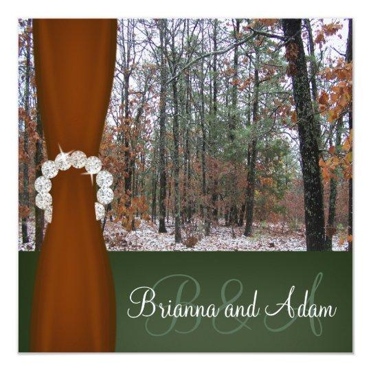 Hunting Theme Winter Camo Wedding Invitation