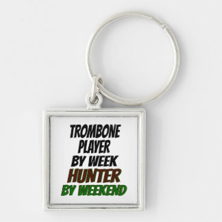 Hunting Trombone Player Keychain