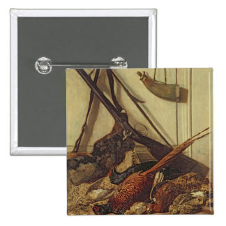 Hunting Trophies, 1862 2 Inch Square Button