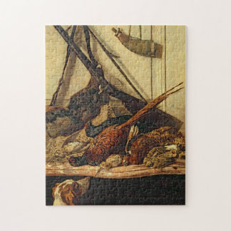Hunting Trophies Monet Fine Art Jigsaw Puzzle