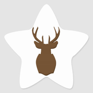 Hunting Trophy Silhouette Star Sticker