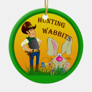 Hunting Wabbits Easter Ornament