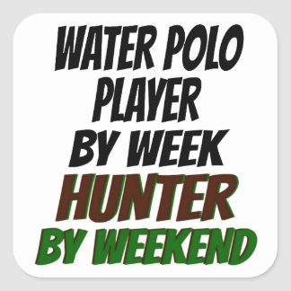Hunting Water Polo Player Square Stickers
