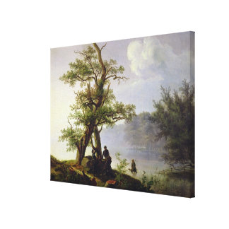 Hunting Waterfowl, 1828 Canvas Print