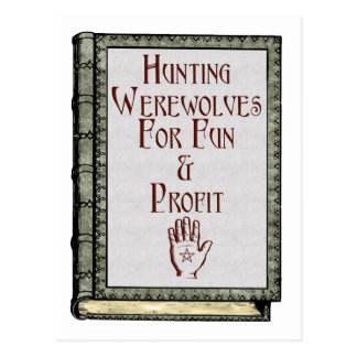 Hunting Werewolves Postcard