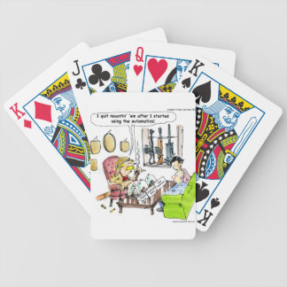 Hunting With Automatics Funny Gifts & Tees Bicycle Playing Cards