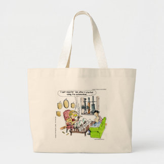 Hunting With Automatics Funny Gifts & Tees Large Tote Bag