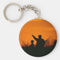 Hunting With Dad Keychain