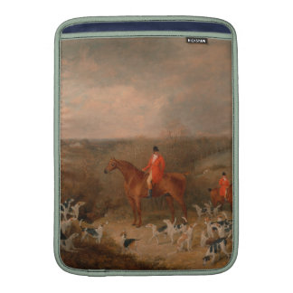 Hunting With Dogs and Horse Famous Oil Painting MacBook Air Sleeve