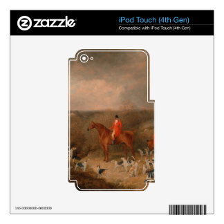 Hunting With Dogs and Horse Famous Oil Painting iPod Touch 4G Decals