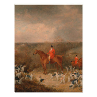 Hunting With Dogs and Horse Famous Oil Painting Letterhead