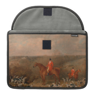 Hunting With Dogs and Horse Famous Oil Painting MacBook Pro Sleeve