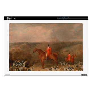 """Hunting With Dogs and Horse Famous Oil Painting Decal For 17"""" Laptop"""