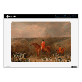 Hunting With Dogs and Horse Famous Oil Painting Samsung Chromebook Decals