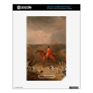 Hunting With Dogs and Horse Famous Oil Painting Decal For NOOK Color