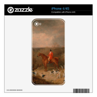 Hunting With Dogs and Horse Famous Oil Painting Skins For iPhone 4