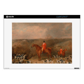 Hunting With Dogs and Horse Famous Oil Painting Skin For Laptop