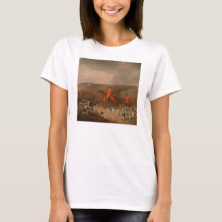 Hunting With Dogs and Horse Famous Oil Painting T-Shirt