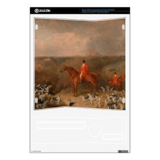 Hunting With Dogs and Horse Famous Oil Painting Xbox 360 S Console Skins